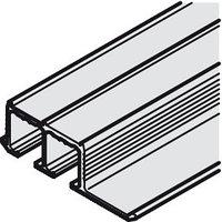 Шина верхняя для раздвижных стеклянных дверей EKU Clipo IF алюминий,2500 мм, фото 1