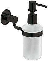 Дозатор жидкого мыла, латунь, графитовый черный, 67 x 149 x 163 мм, объем 300 мл, фото 1