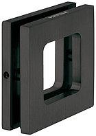 Ручка для стеклянной двери 8-12.7 мм, 70х70 мм, графитовый черный, фото 1