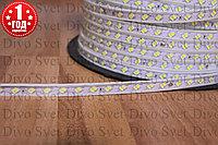 Светодиодная лента SMD5730 в 2 ряда диоды, от 80 до 120 диодов/м, IP67 220 В, 2 ВАРИАНТА. Все цвета в наличии