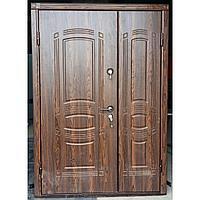 Дверь стальная двухстворчатая МДФ с двух сторон