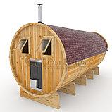 Баня-бочка 6м из алтайского кедра, фото 2