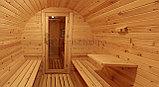 Баня-бочка 6м из алтайского кедра, фото 3