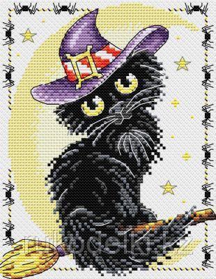 """Набор для вышивания крестом """"Очарование черной кошки"""""""