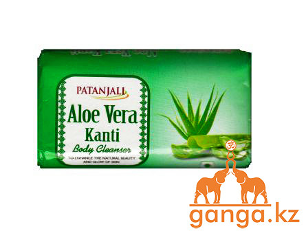 Мыло c Алое Вера (Aloe Vera Kanti Soap PATANJALI), 75 гр.