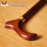 Трость деревянная с УПС с деревянной ручкой и выдвижным штырем от скольжения, фото 3