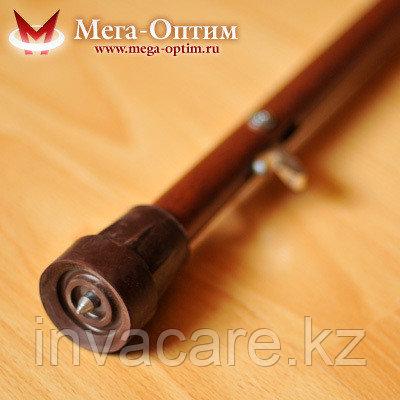 Трость деревянная с УПС с деревянной ручкой и выдвижным штырем от скольжения