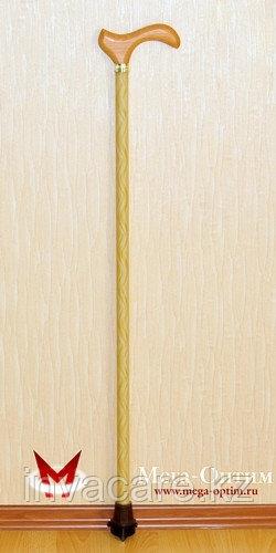 """Трость стеклопластиковая с деревянной ручкой с УПС """"Антилед"""""""