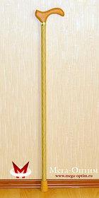 Трость стеклопластиковая с деревянной ручкой