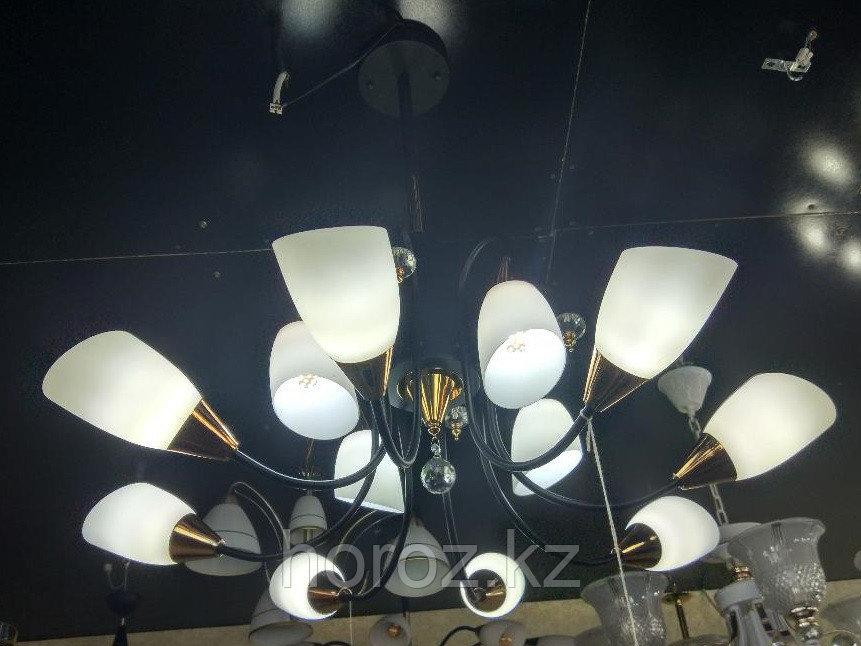 Люстра модерн 8+4 рожков, черная