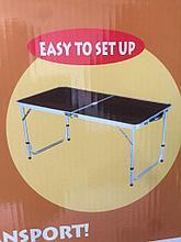 Стол походный складной 120 см /60 см+4 стула