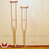 Костыли подмышечные с деревянными ручками 02-К с УПС (Штырь), фото 4