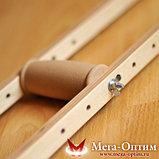 Костыли деревянные с мягкими ручками 02-КИ с УПС (Штырь), фото 2