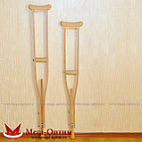 Костыли деревянные с мягкими ручками 02-КИ с УПС (Штырь), фото 4