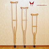 Костыли подмышечные с деревянными ручками 02-К с УПС (Антилед), фото 4