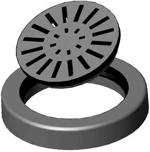 Дождеприемник круглый пластиковый