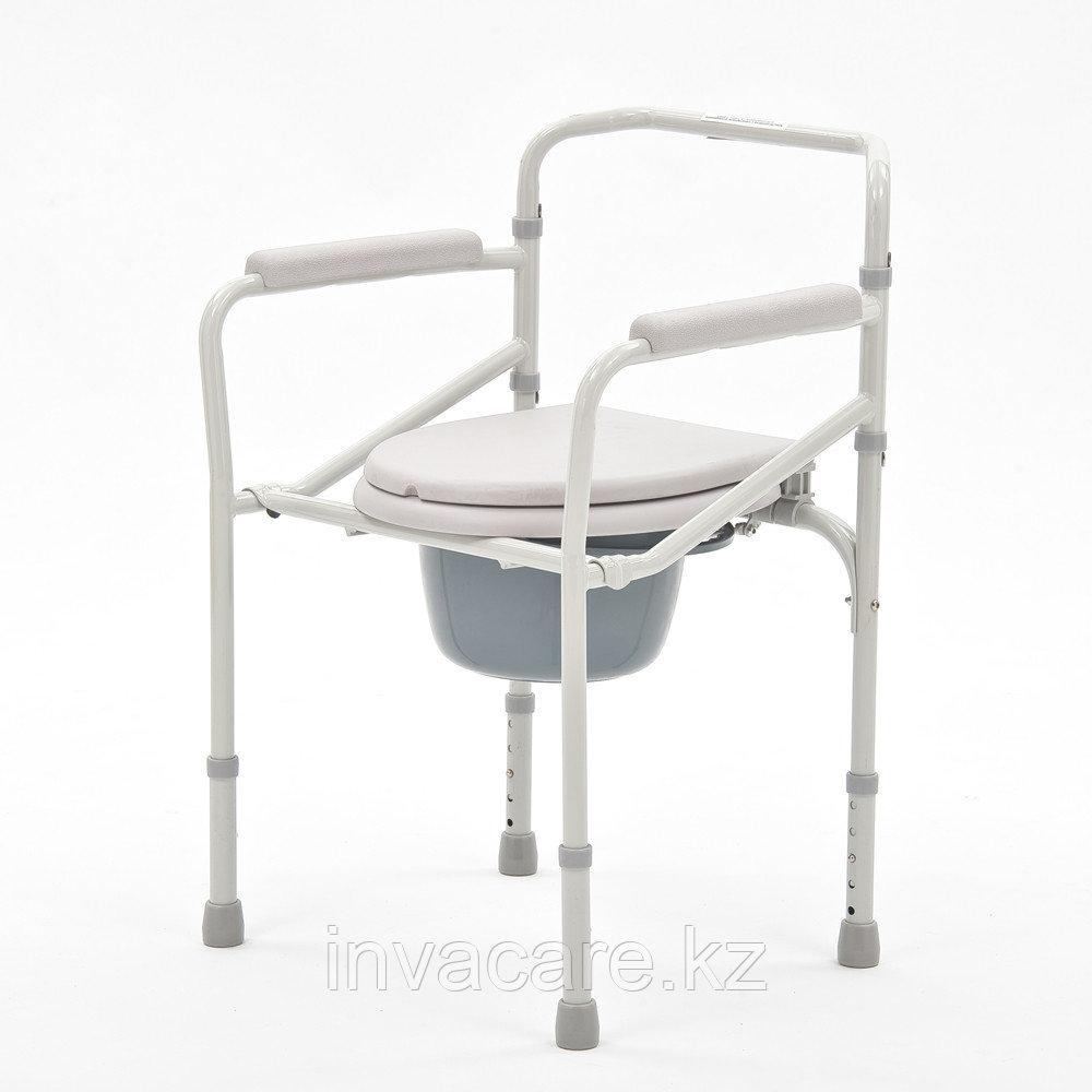 """Кресло-туалет складной со сменными ножками (без колес, с колесами) """"Armed"""" FS693"""