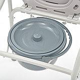 """Кресло-туалет складной со сменными ножками (без колес, с колесами) """"Armed"""" FS693, фото 6"""