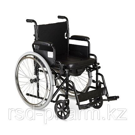Кресло-коляска с санитарным оснащением  Н 011А, фото 2