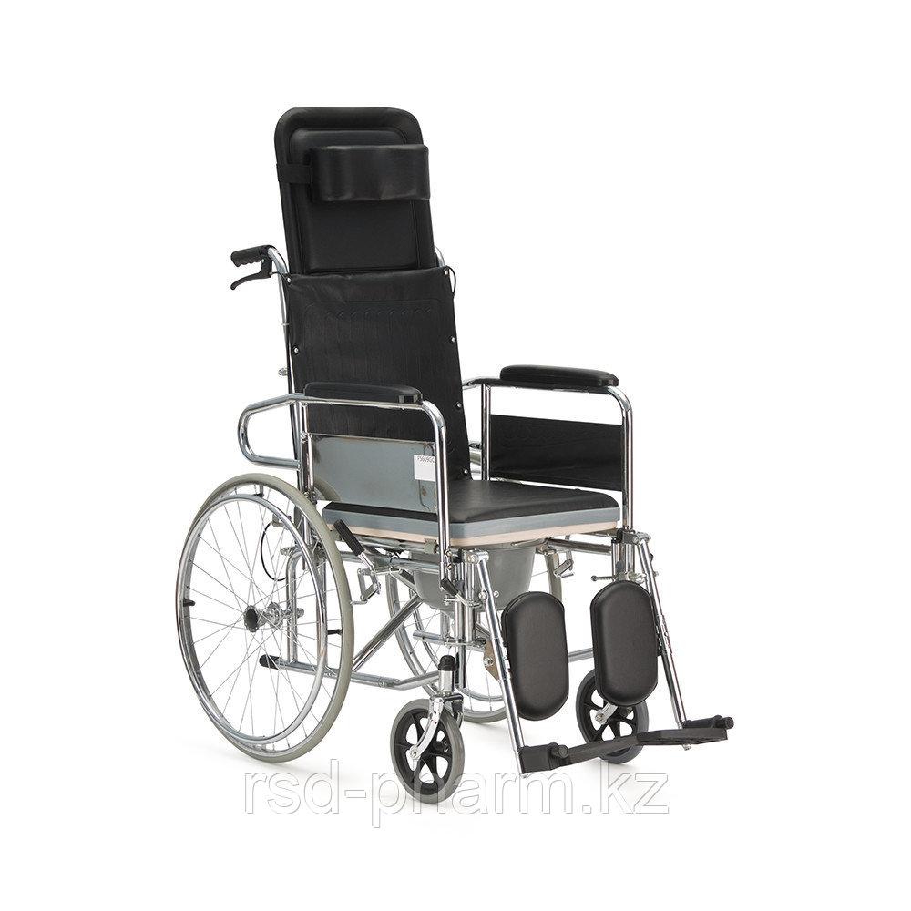 """Кресло-коляска с высокой спинкой (горизонтальное положение) и сан.оснащением """"Armed"""" FS609GC"""