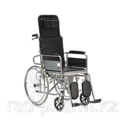"""Кресло-коляска с высокой спинкой (горизонтальное положение) и сан.оснащением """"Armed"""" FS609GC, фото 2"""