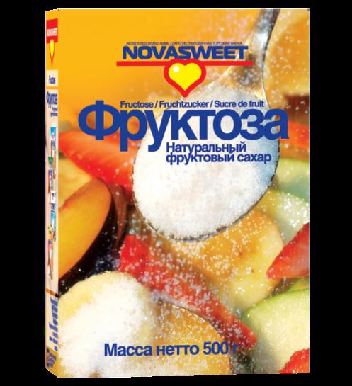 """Фруктоза твердая упаковка, 500 гр """"Novasweet"""""""