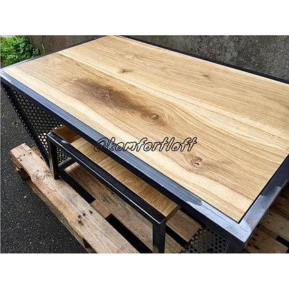 Журнальный стол на металлическом основании (Лофт), фото 3