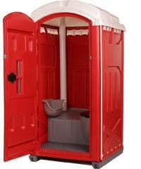 Мобильные туалеты красные