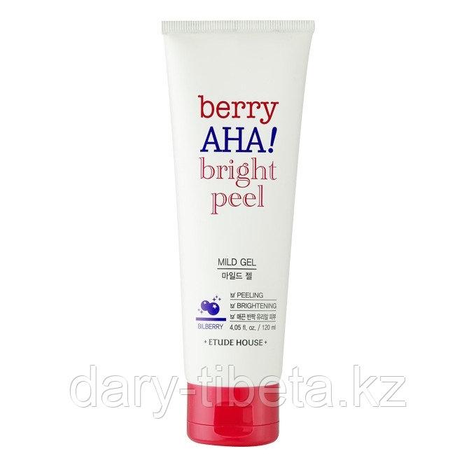Etude House Berry AHA Bright Peel Mild Gel-  пилинг-гель для сияния кожи