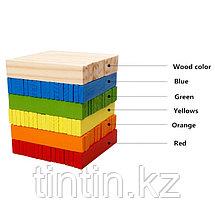 Деревянный конструктор- Цветные брусочки, 102 деталей, фото 3