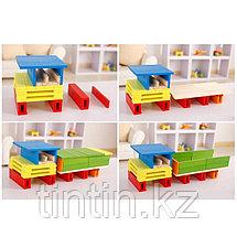 Деревянный конструктор- Цветные брусочки, 102 деталей, фото 2