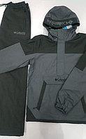 Костюм спортивный мужской Colambia с капюшоном черный/серый