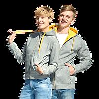 Мужская двухцветная толстовка с капюшоном, StanWinner, 18, Серый меланж (50), L/50