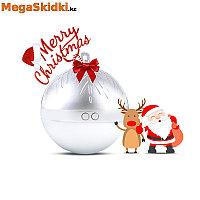 Портативная колонка Bluetooth TWS Рождественский шар с подсветкой, фото 1