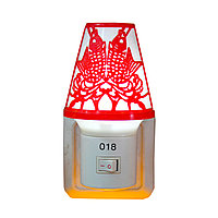 "LED ночник в розетку ""Лампа"", красный"