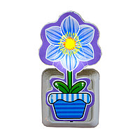 """LED ночник в розетку """"Цветок"""", синий"""