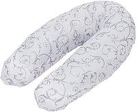 Подушка для беременных Roxy Kids наполнитель полистирол (шарики) бело-черная