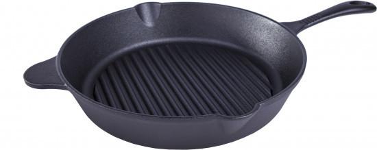 Чугунная сковорода - гриль (30 см) Fissman