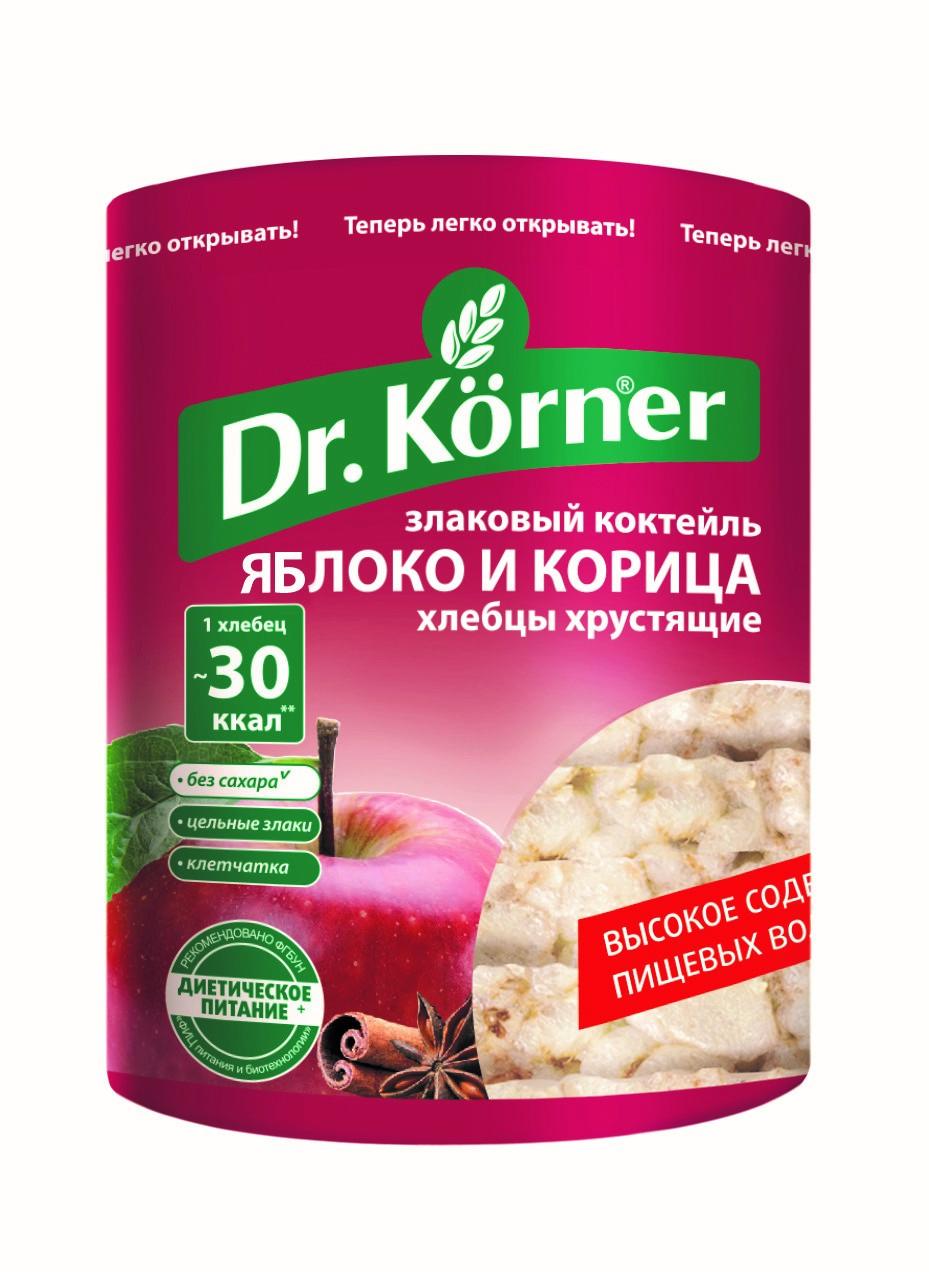 Хлебцы Dr.Korner «Злаковый коктейль «Яблоко и Корица»