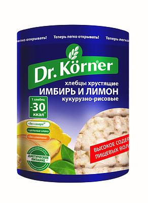 Хлебцы Dr.Korner «Злаковый коктейль «Имбирь и Лимон»