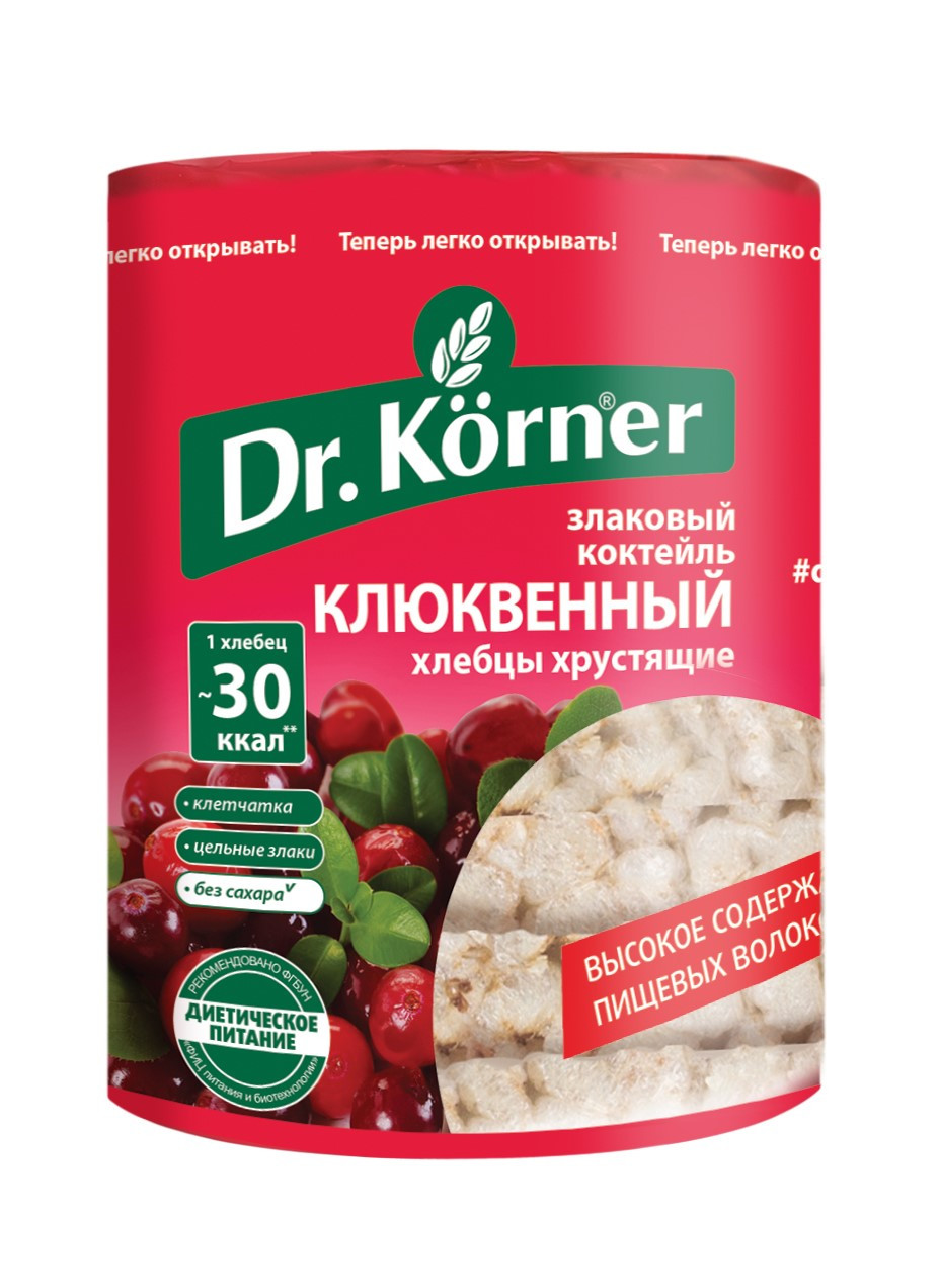 Хлебцы Dr.Korner «Злаковый коктейль» Клюквенный