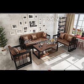 Комплект мягкой мебели Лофт (2 дивана, кресло, стол)