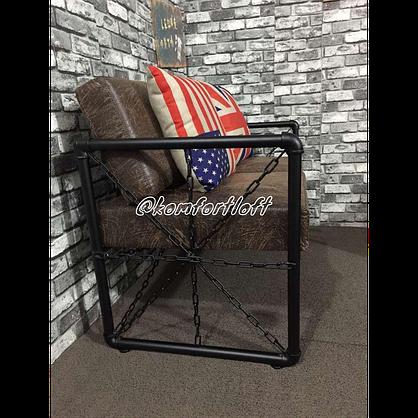 Комплект мебели для кафе Лофт (2 дивана, кресло, стол), фото 3