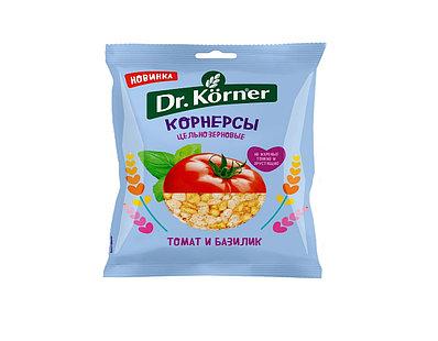 Чипсы Dr.Korner цельнозерновые кукурузно-рисовые с томатом и базиликом