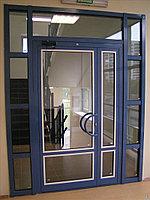 Двойные алюминиевые двери