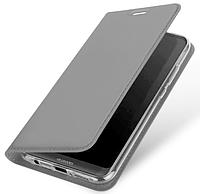 Кожаный чехол Open series на Huawei Mate 10 Lite (серый)