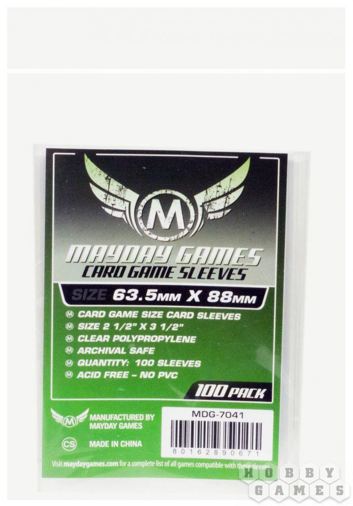 Протекторы Mayday (100 шт., 63,5x88 мм): стандарт, прозрачные