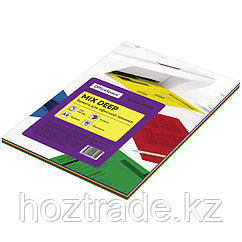 Бумага цветная OfficeSpace deep mix A4 100 л(4 цвета)