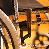 Надежная инвалидная коляска с сиденьем 61 см и удобной единой ручкой Мега Оптим FS 874 B-51, фото 5
