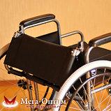 Надежная инвалидная коляска с сиденьем 61 см и удобной единой ручкой Мега Оптим FS 874 B-51, фото 8